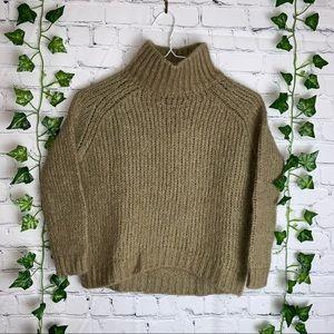 MASSIMO DUTTI Mock Neck Crop Sweater